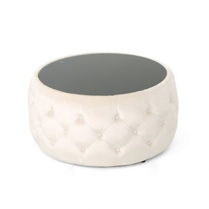 Chambers Glam And Tempe Glass Coffee Table Ottoman