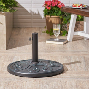 Amina Outdoor 57Lb Concrete Circular Umbrella Base