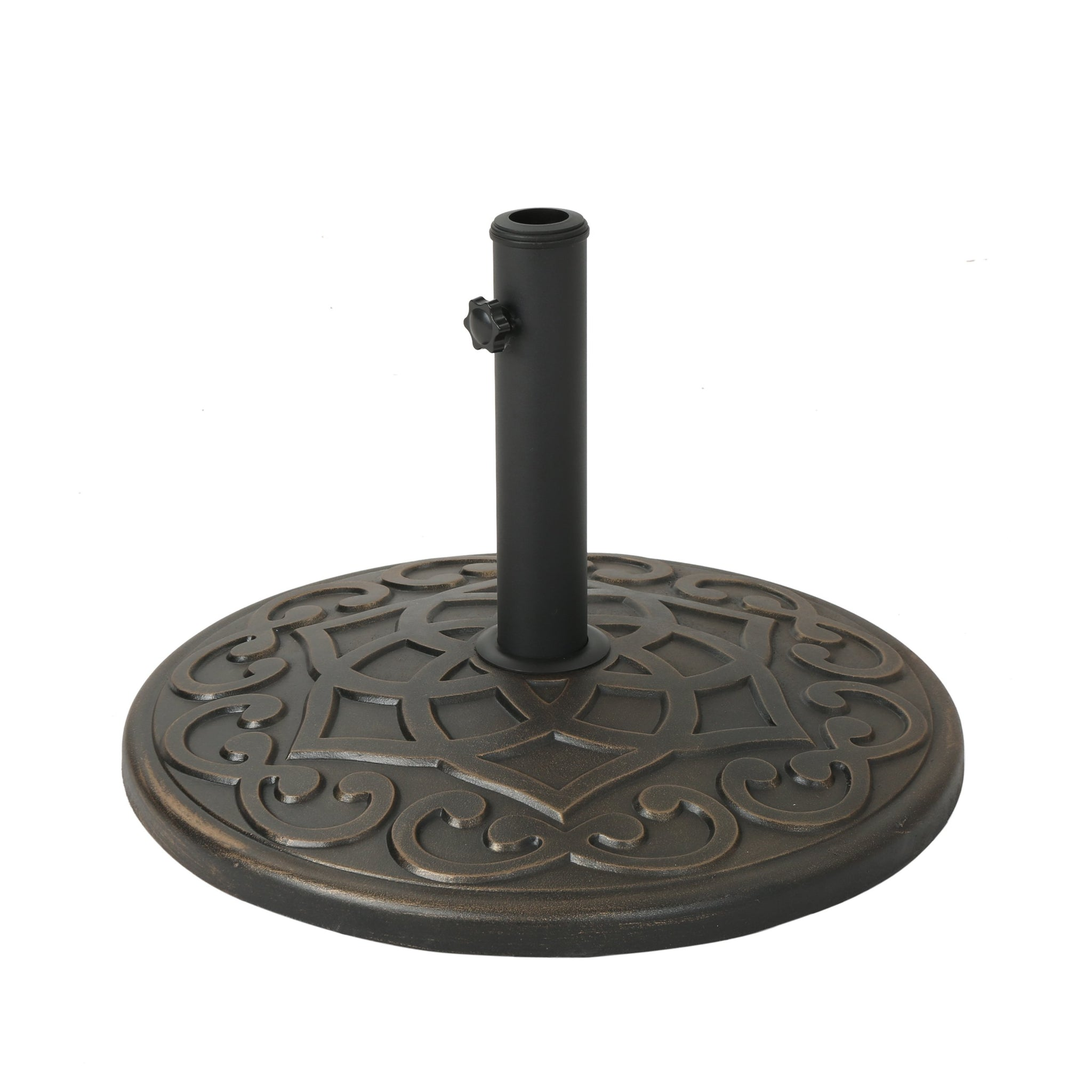 Clementine Outdoor 57Lb Concrete Circular Umbrella Base