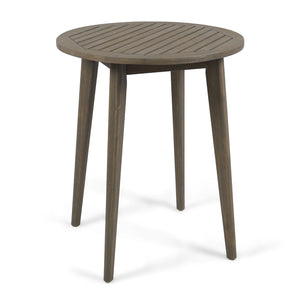 St. Marta Outdoor Round Acacia Wood Bistro Table