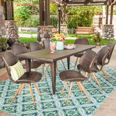 Dimple Outdoor 7 Piece Wicker Dining Set