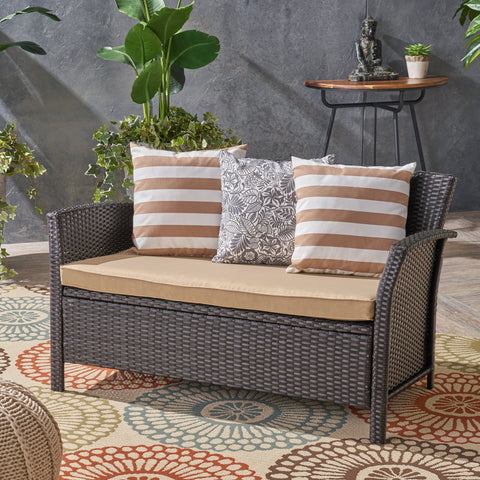 Spencer Outdoor Wicker Loveseat