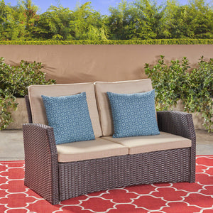 Sandberg Outdoor Wicker Loveseat