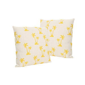 "Paddington Trees Outdoor 18"" Water Resistant Square Pillows (Set Of 4)"
