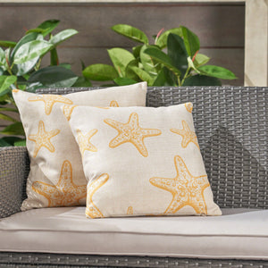 "Stafford Outdoor 18"" Water Resistant Square Pillows (Set Of 4)"