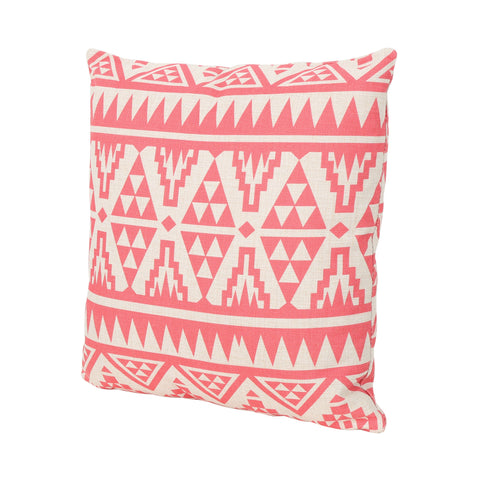"Carnation Outdoor Water Resistant 18"" Square Pillow"