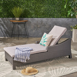 Anson Outdoor Wicker Chaise Lounge