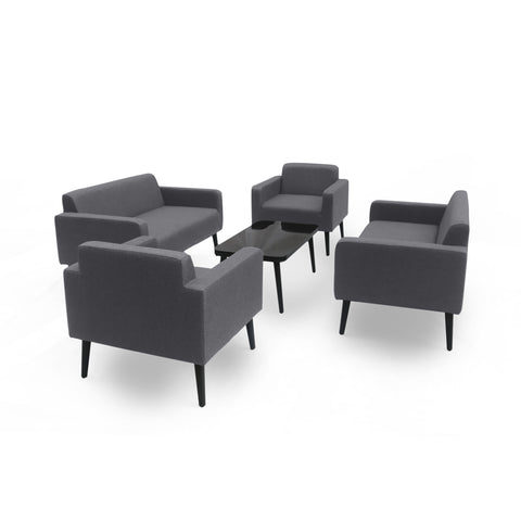 Alton Outdoor Upholstered 5 Piece Chat Set