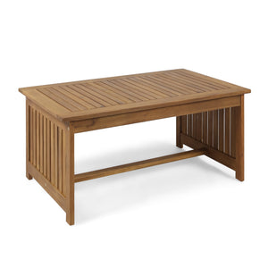 Carson Outdoor Acacia Wood Coffee Table