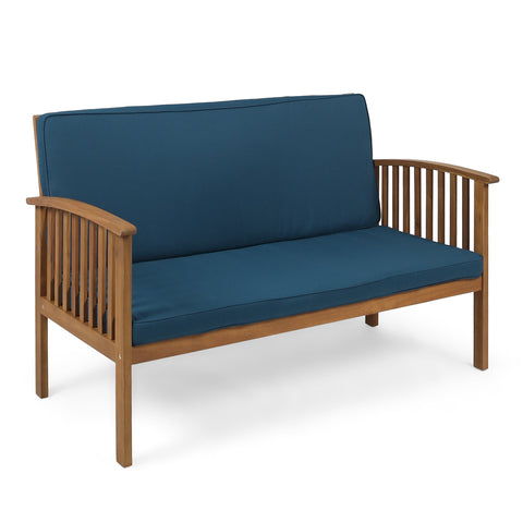 Carmody Outdoor Acacia Wood Loveseat