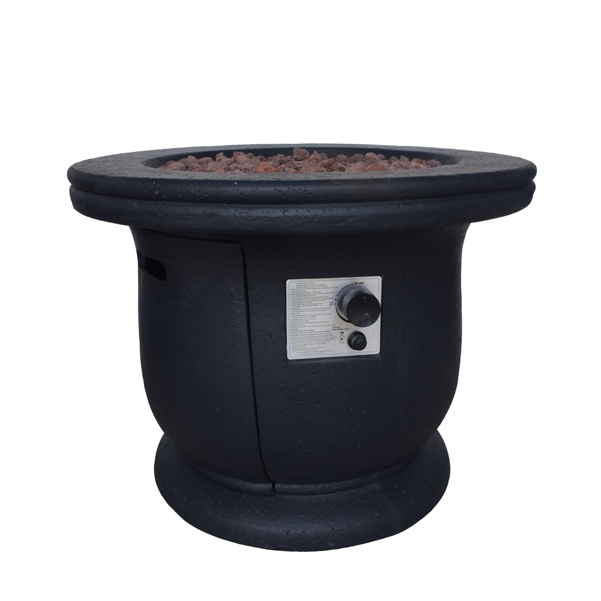 "Caplan Outdoor Concrete 32"" Gas Burning Fire Pit"