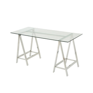 Gianna Glam Tempe Glass Desk
