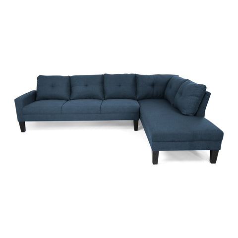 Felicity Modern Fabric Chaise Sectional
