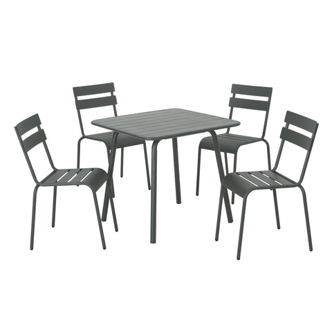 La Verne Outdoor 5 Piece Dining Set
