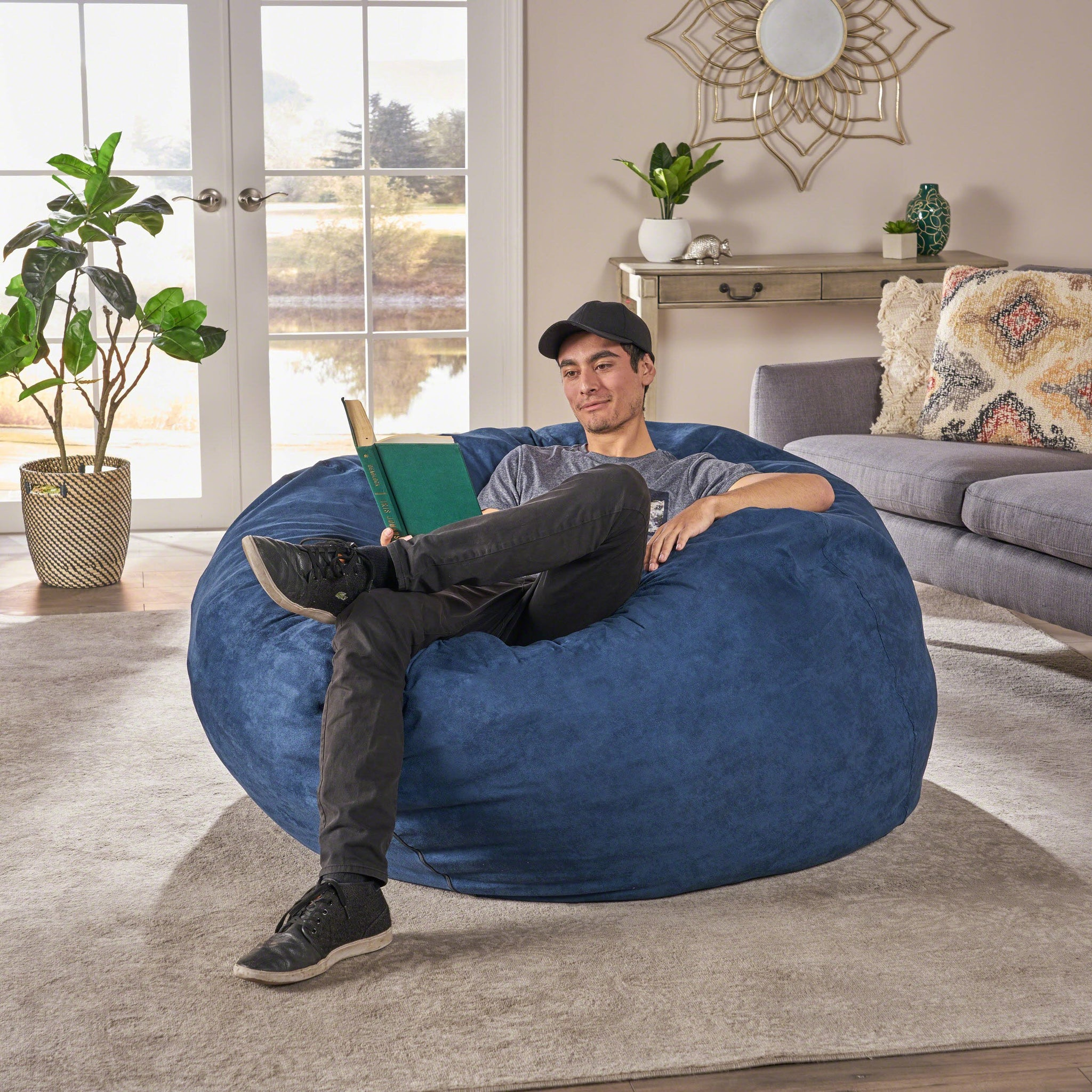 5 Ft Suede Bean Bag
