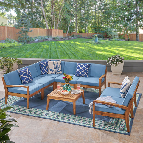Brier Sectional Sofa Set For Patio