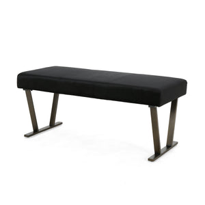 Alanis Modern Bench With Brushed Brass Metal Legs