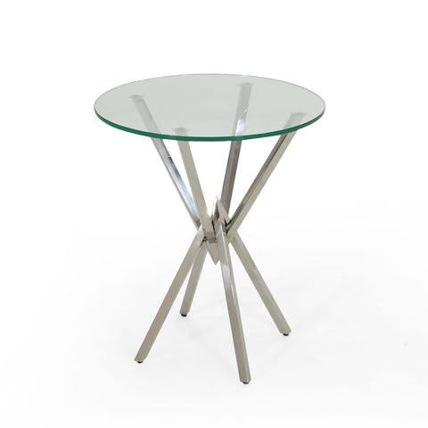 Delon Modern Geometric Accent Table | Color: Gray