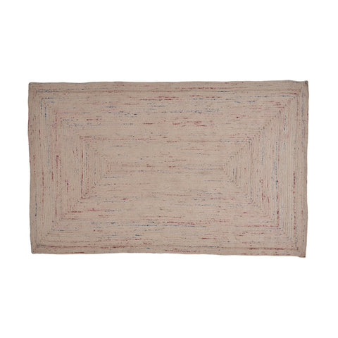 Caledonia Boho Cotton Area Rug | Color: White