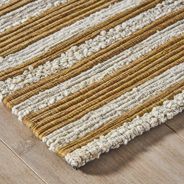 Farmdale Modern Cotton And Fabric Area Rug | Color: Brown