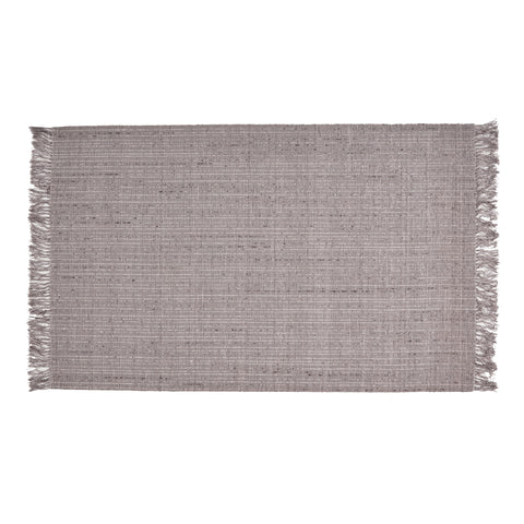 Bellerose Boho Viscose And Wool Area Rug | Color: Gray