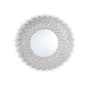 Abena Decorative Modern Sun Mirror | Color: Gray, Color: Silver