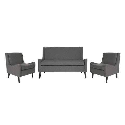 Eddison Contemporary Loveseat Chat Set