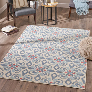 Brava Indoor Floral 5 X 8 Area Rug