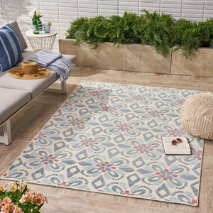 Shary Indoor/Outdoor Floral 8 X 10 Area Rug
