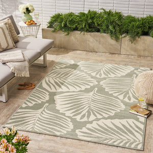Veda Indoor/ Outdoor Floral 5 X 8 Area Rug