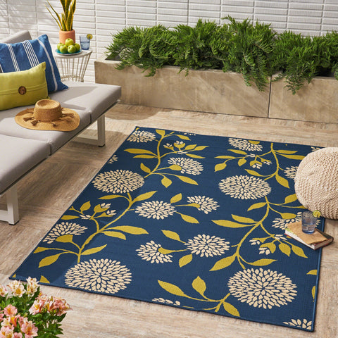 Viga Indoor/ Outdoor Floral 5 X 8 Area Rug