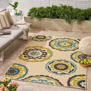 Jaxson Indoor/ Outdoor Floral 5 X 8 Area Rug