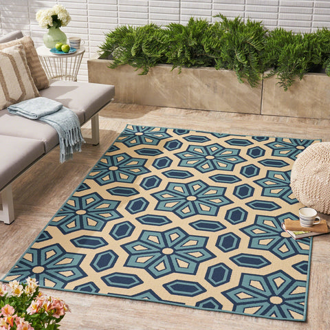 Tauris Indoor/ Outdoor Geometric 5 X 8 Area Rug