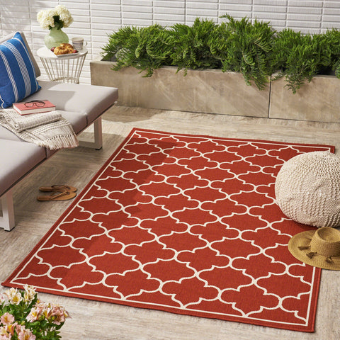 Theon Indoor/ Outdoor Geometric 8 X 11 Area Rug
