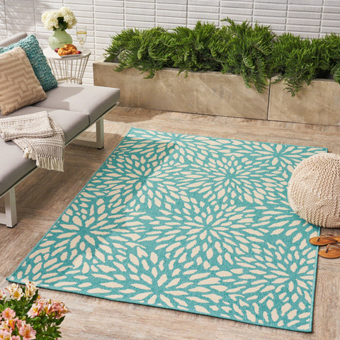 Silvan Indoor/ Outdoor Floral 5 X 8 Area Rug