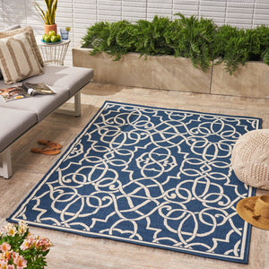 Bellmill Indoor/ Outdoor Geometric Area Rug