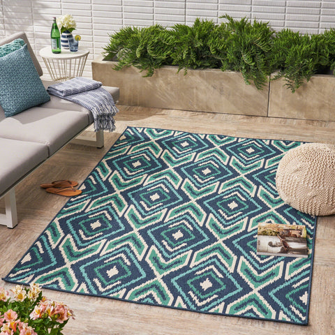 Murano Indoor/ Outdoor Geometric 5 X 8 Area Rug