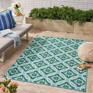 Jacob Indoor/ Outdoor Geometric 5 X 8 Area Rug