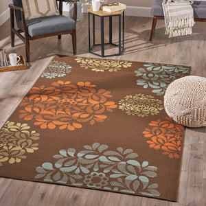 Raine Indoor Floral 5 X 8 Area Rug