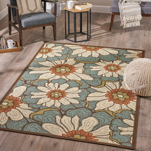 Bruna Indoor Floral 8 X 11 Area Rug