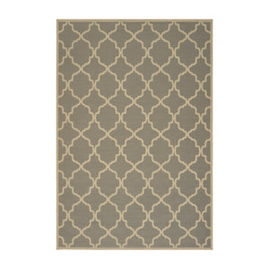 Erwin Indoor Geometric Area Rug | Color: Gray, Size: 5' x 8'