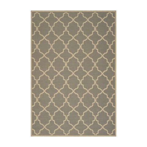 Barneveld Outdoor Geometric Area Rug | Color: Gray, Size: 5' x 8'