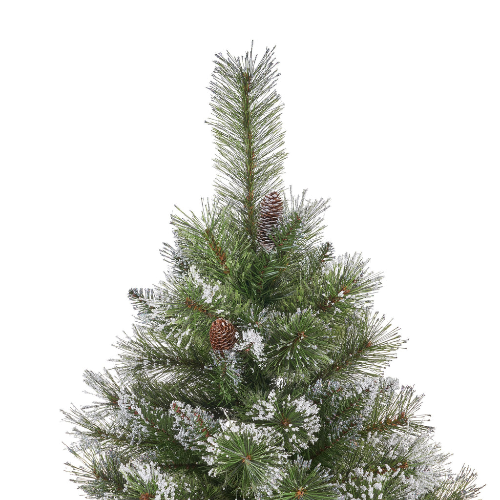 Artificial Christmas Tree Branches.9 Foot Mixed Spruce Pre Lit Or Unlit Hinged Artificial Christmas Tree With Snow And Glitter Branches And Frosted Pinecones