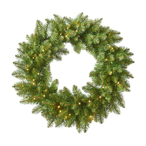 Laurier Christmas Wreath 24 Dunhill Fir Battery Operated Includes Timer Warm Led Christmas S