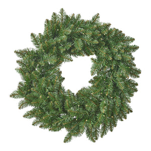 "24"" Norway Spruce Pre-Lit Warm White LED Artificial Christmas Wreath"