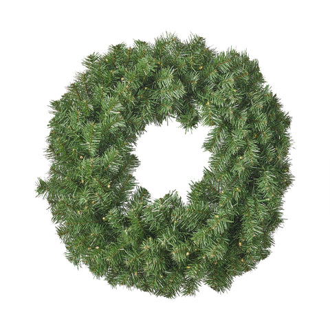 Alford Christmas Wreath 24 Noble Fir Battery Operated Includes Timer Warm Led Christmas S