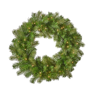 Otto Christmas Wreath 24 Mixed Spruce Battery Operated Includes Timer Warm Led Christmas S
