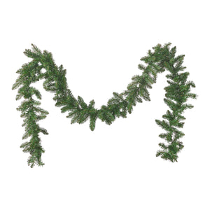 Alford Christmas Garland 9 Pre Lit Norway Spruce Battery Operated Includes Timer Warm Led Christmas S