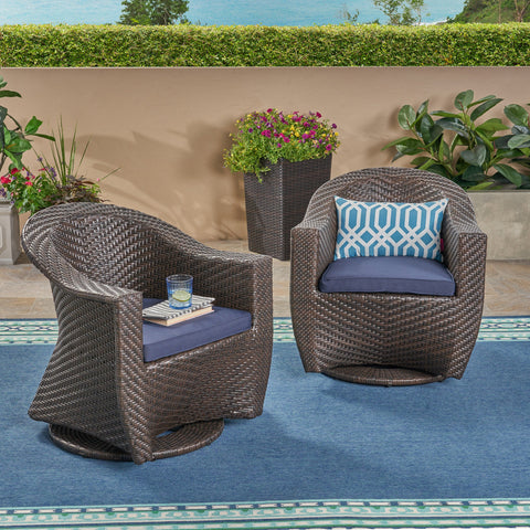 Lanister Patio Swivel Chairs
