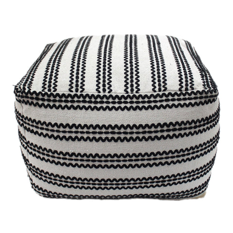 Chilton Large Square Casual Pouf